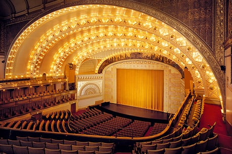 Stage View of the Auditorium Theater at Roosevelt University in Chicago, IL