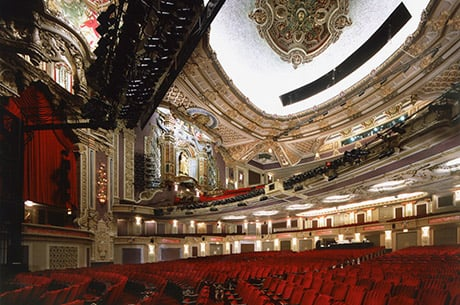 View of the interior of the Ford Oriental Theatre in Chicago, IL